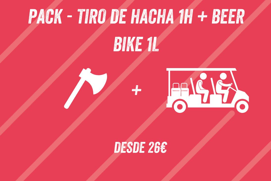 Pack tiro de hacha 1h + Beer Bike 1L