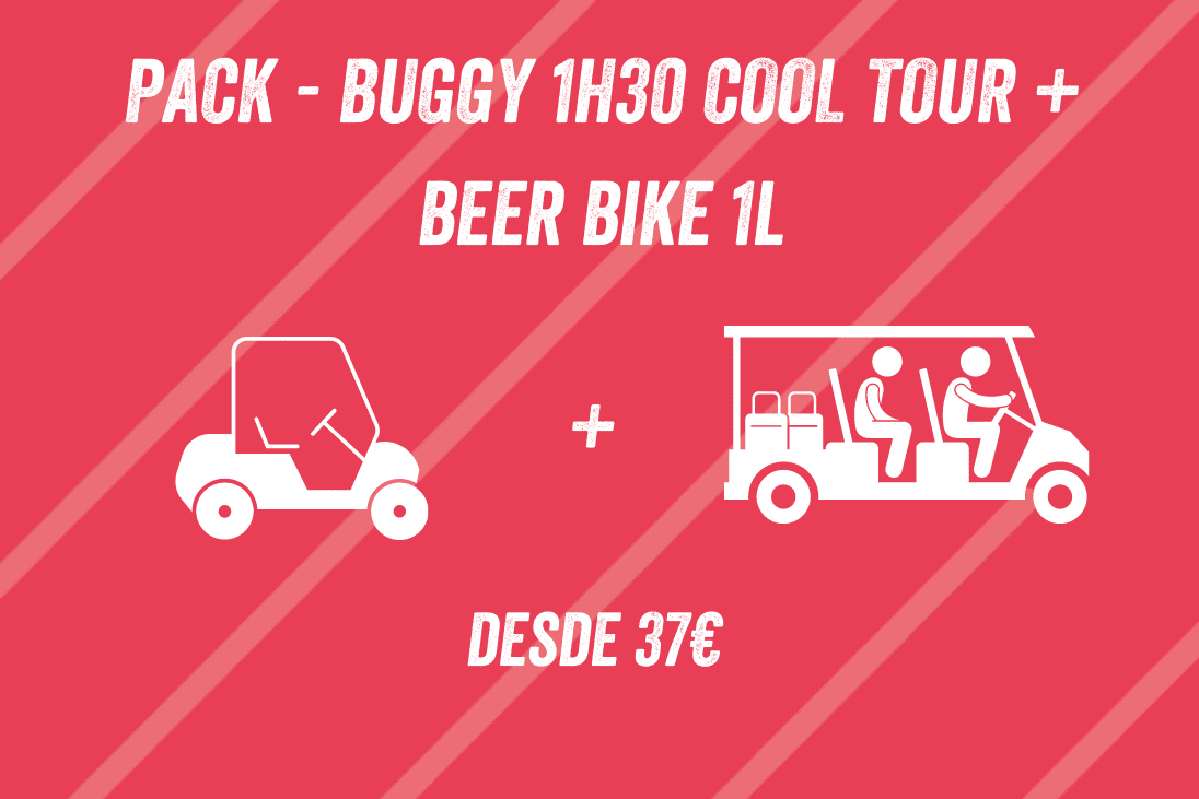 PACK BUGGY 1H30 COOL TOUR + BEER BIKE 1L