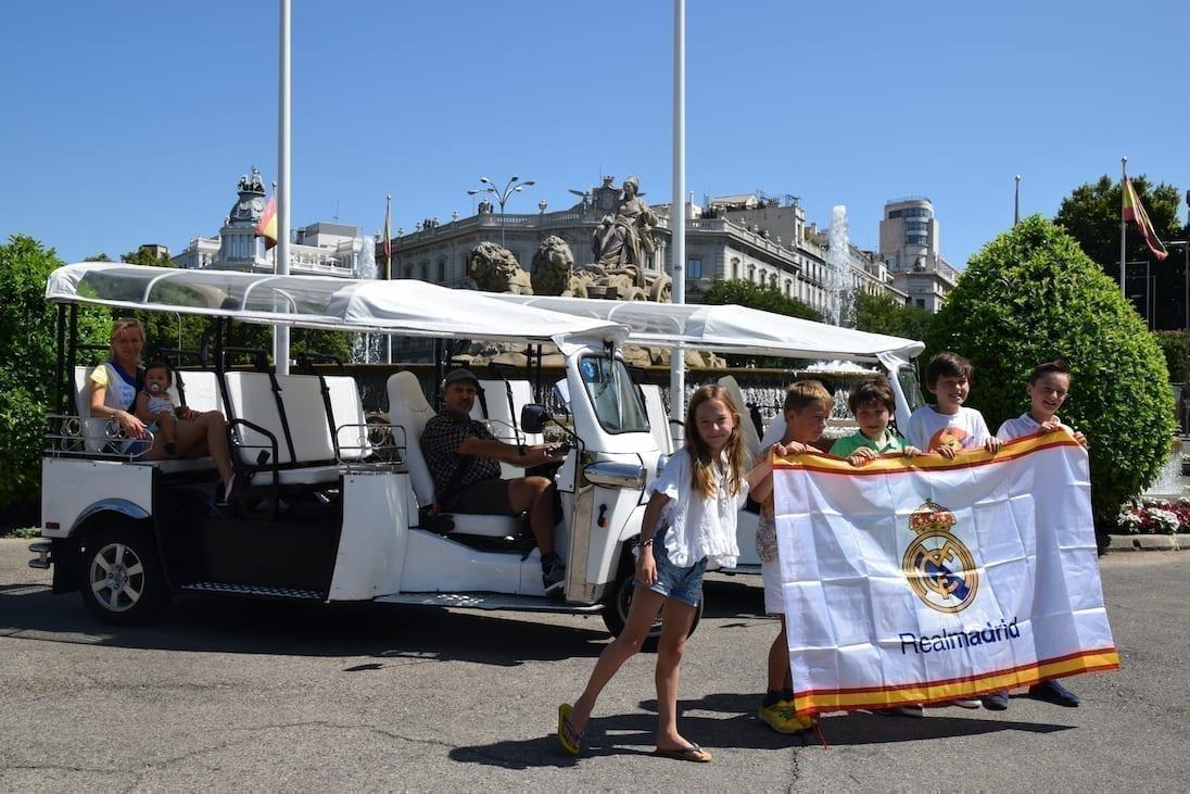 Real Madrid fans enjoying the tour