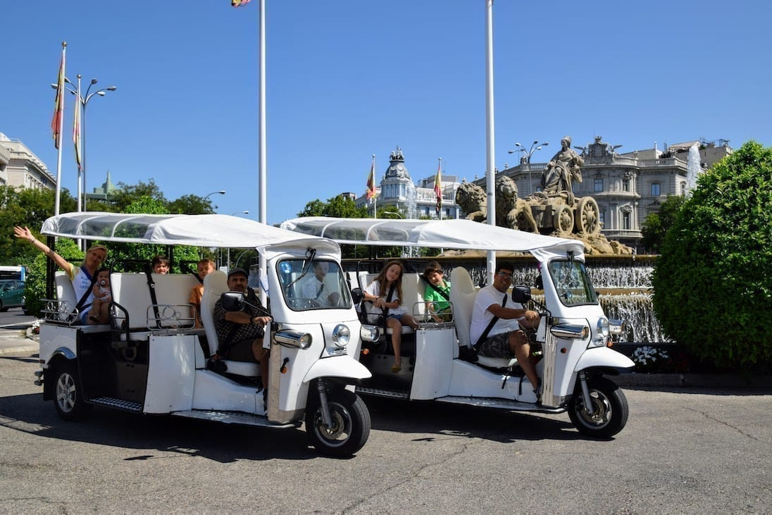 Two of our Tuk Tuk vehicles ready for the tour