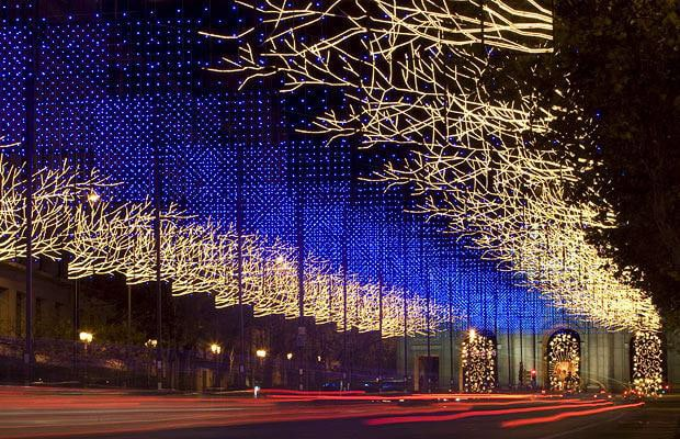 Madrid lights at night