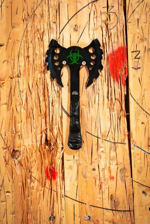 Zombien Killer con una diana de fondo