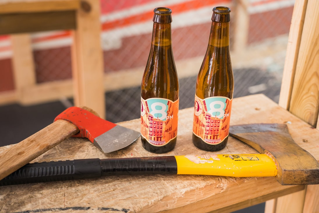A couple of beers and axes, what could possibly go wrong?
