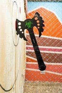 """Zombie killer"" Type of axe throwing"