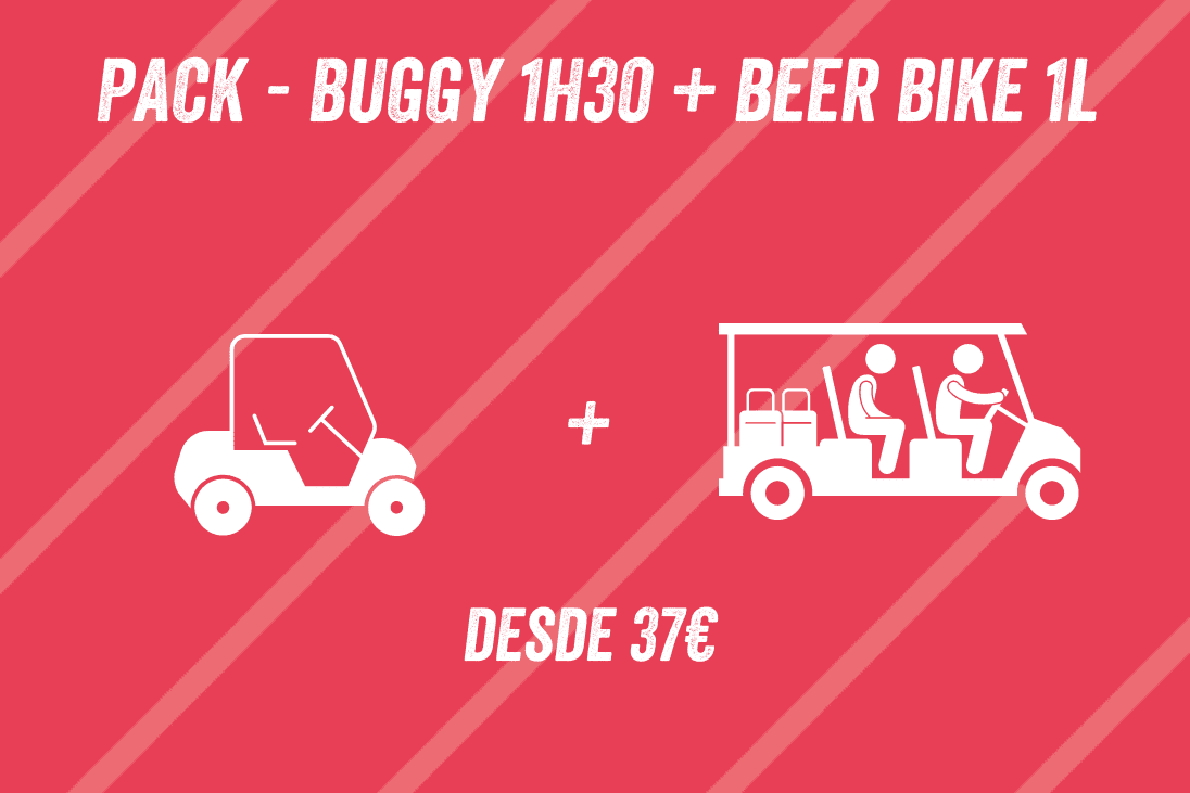 Pack Buggy 1h30 + Beer Bike 1L