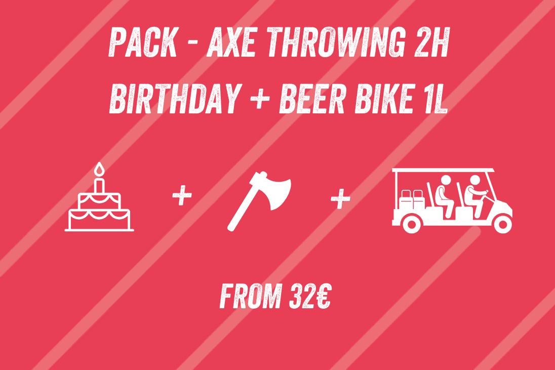 Pack Axe Throwing 2h Birthday + Beer Bike 1l